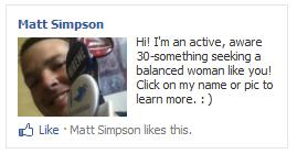 Facebook interest-based PPC advertising campaign for a bachelor with flair.