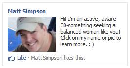 Facebook interest-based PPC advertising campaign for a bachelor in a hat.